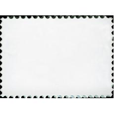 """Marmette in resina rettangolare con bordi """"francobollo"""" diametro 5cm x 7cm con magnete"""