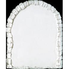 Marmette in resina rettangolare verticale con parte superiore ad arco e bordi effetto pietra dimensioni 7,7cm x 6,3cm