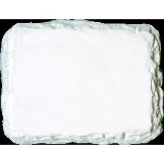 Marmette in resina rettangolare angoli arrotondati e bordi frastagliati dimensioni 7,9cm x 6,1cm