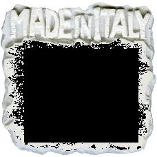 "Marmette in resina rettangolare ""Made in Italy""  6,7cm x 6,5cm"
